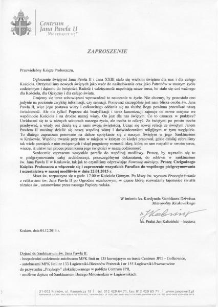 Zaproszenie_Msza_Dziekczynna_22.01.2015